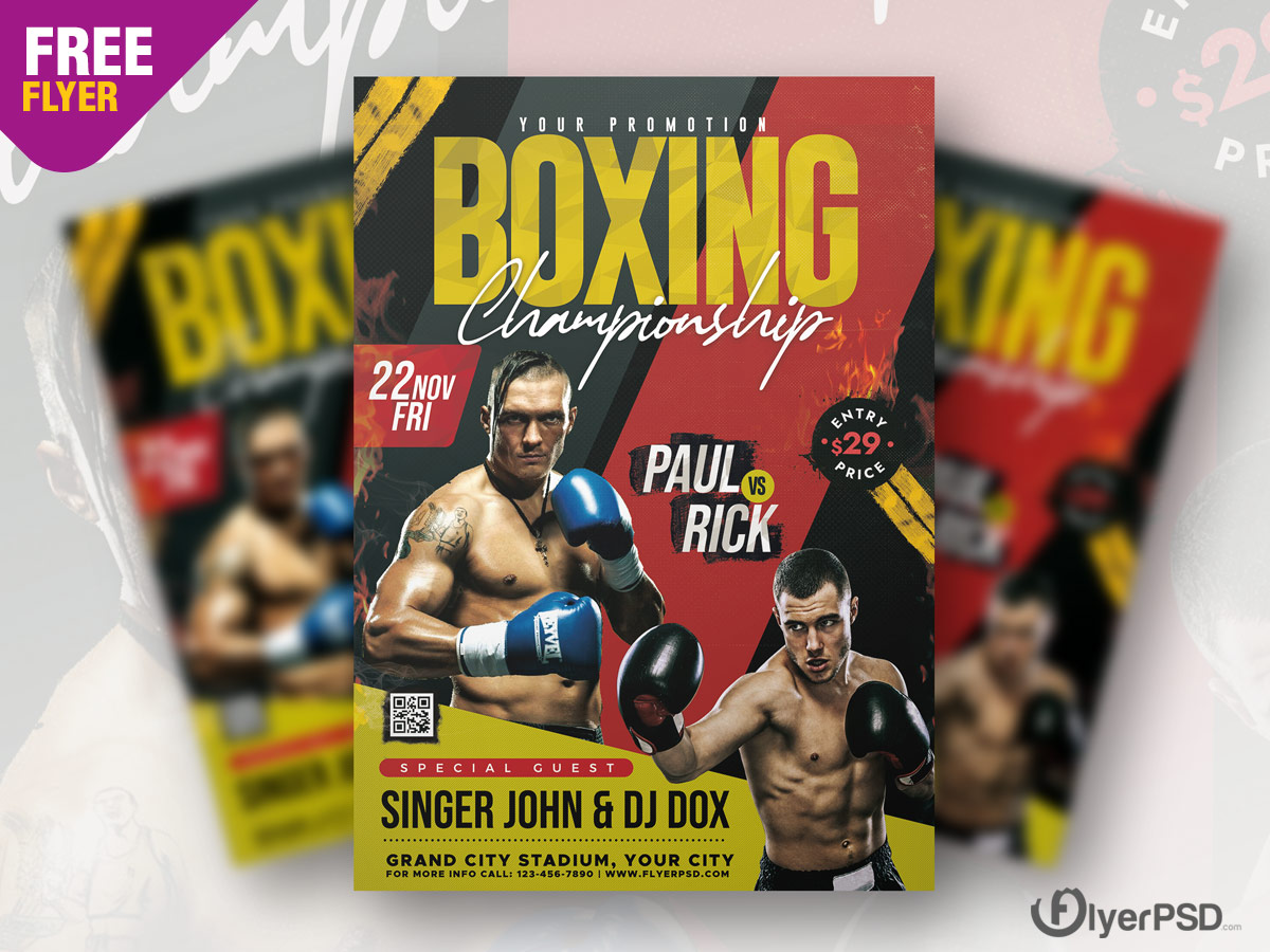 Boxing Tournament Flyer PSD
