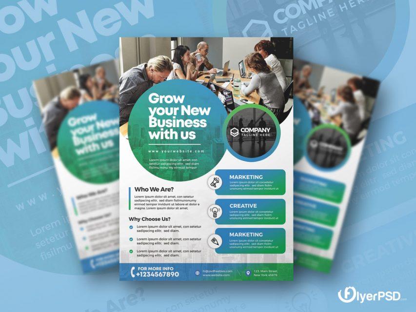 Corporate Flyer Design PSD Template