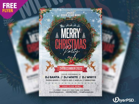 Christmas Party Flyer PSD Template