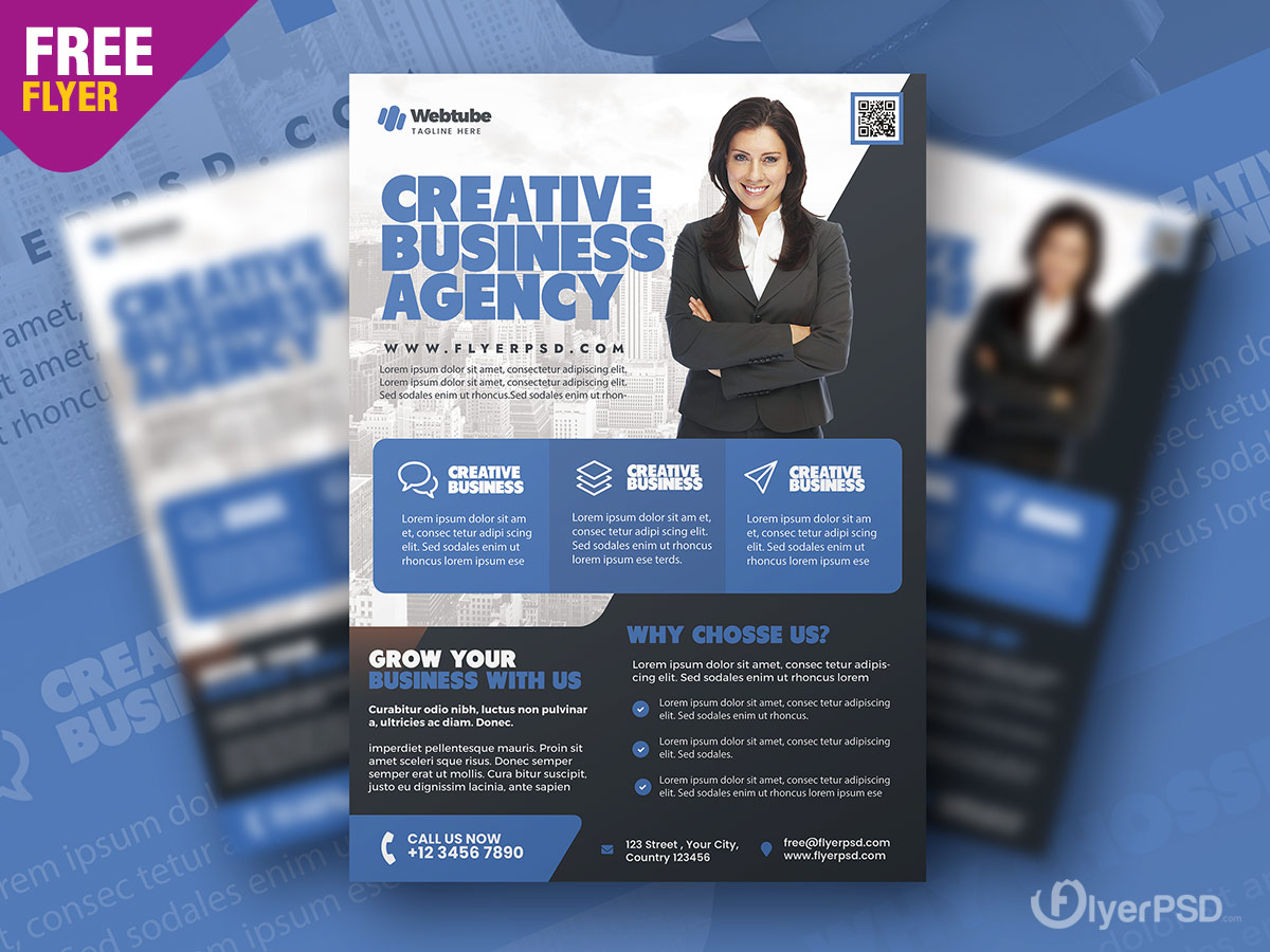 Professional Corporate Flyer PSD