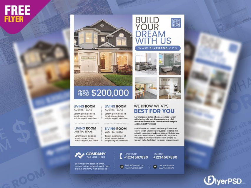 Real Estate Promotion Flyer PSD