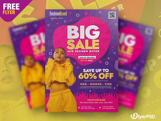 Big Sale Promotion Flyer PSD