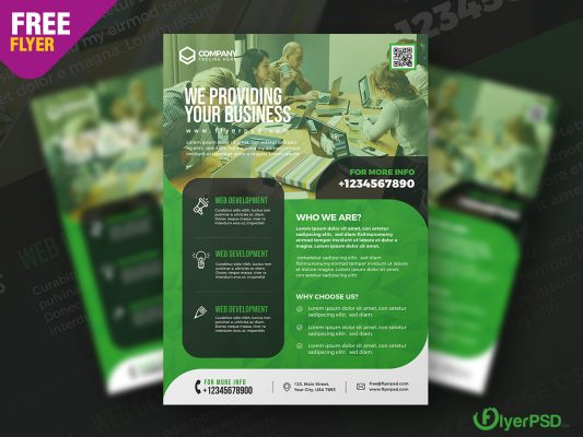 Business Corporate Flyer PSD Template