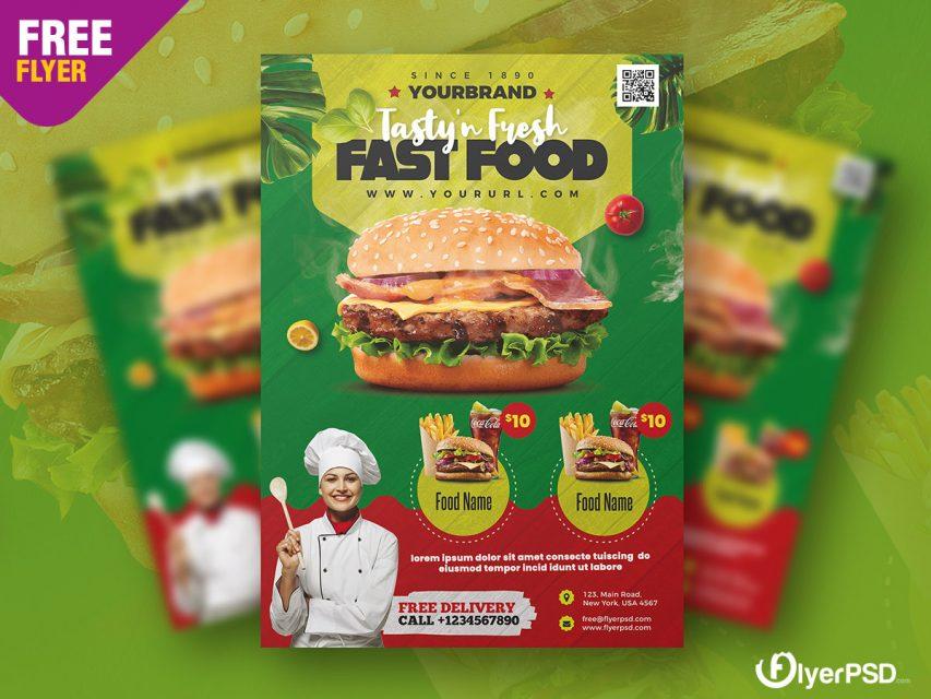 Fast Food Menu Flyer PSD