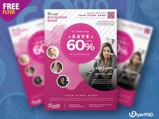 Latest Fashion Sale Flyer PSD