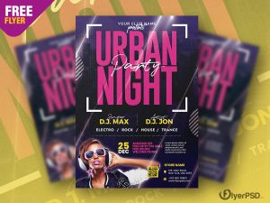 Urban Night Party Event Flyer PSD