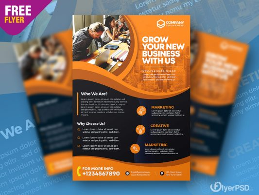 Corporate Business Advertising Flyer PSD