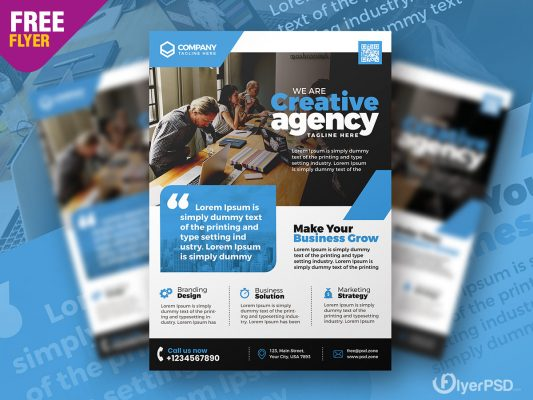 Corporate Business Promotion Flyer PSD Template