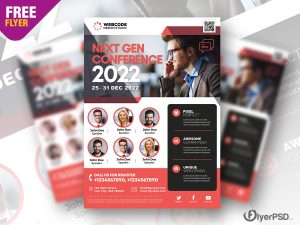 Corporate Conference Flyer PSD Template