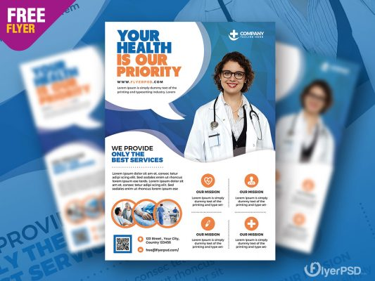 Health and Hospital Business Flyer PSD