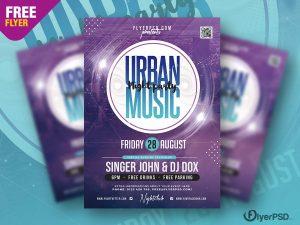 Urban Night Music Party Flyer PSD