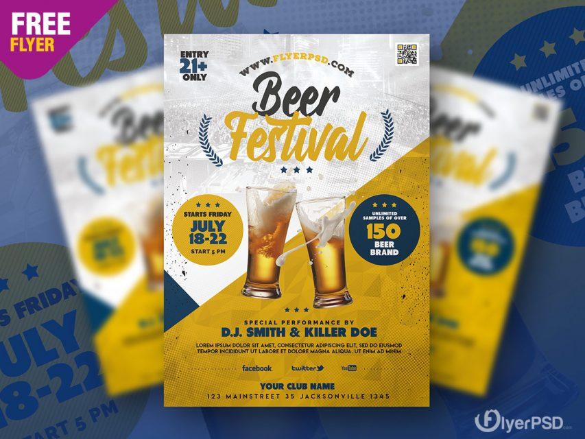 Beer Festival Flyer PSD Template