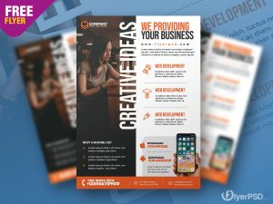 Business Advertising Flyer Design PSD