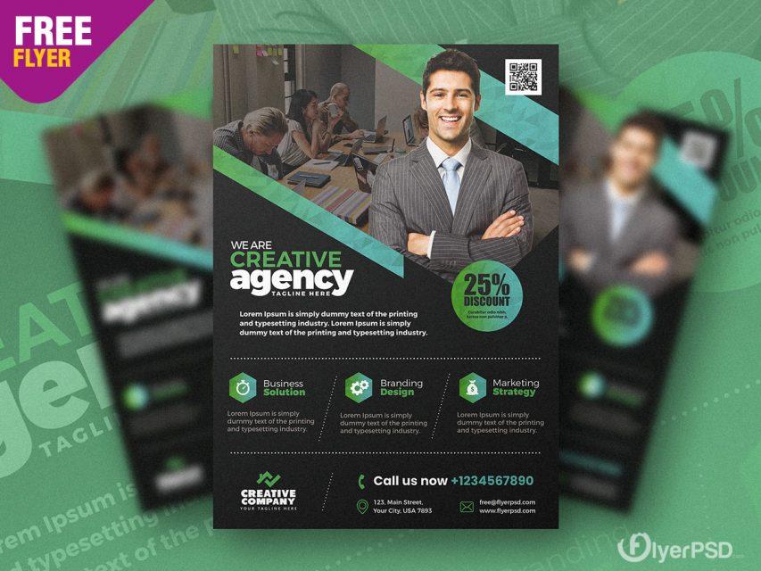 Business Promotion Flyer Design PSD