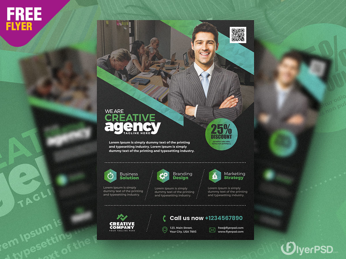 Business Promotion Flyer Design PSD