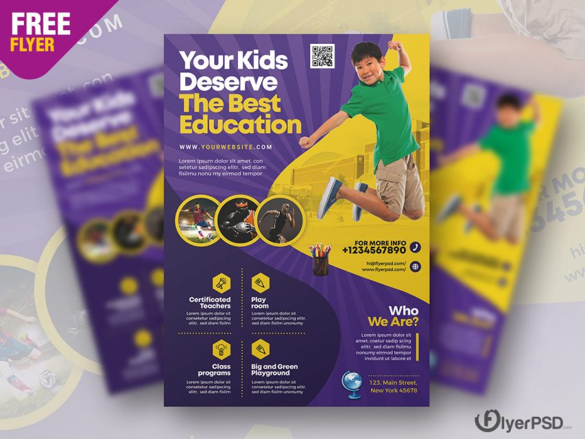 Education Institute Flyer PSD Template