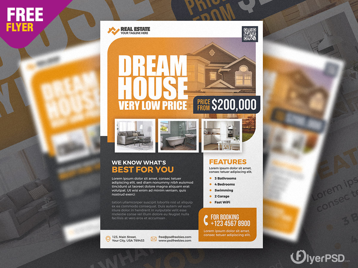 Real Estate Business Promotion Flyer PSD
