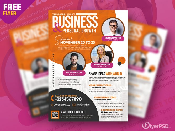 Business Event Flyer PSD Template