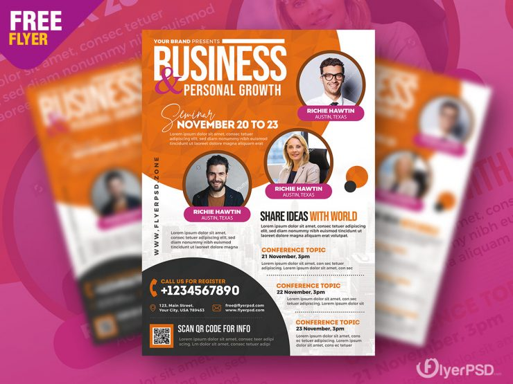Business Event Flyer PSD Template
