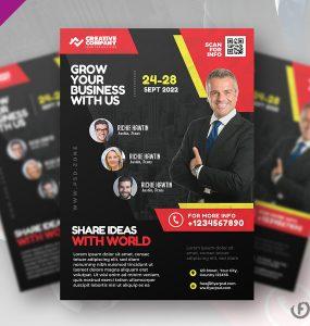 Business Seminar Poster Flyer PSD