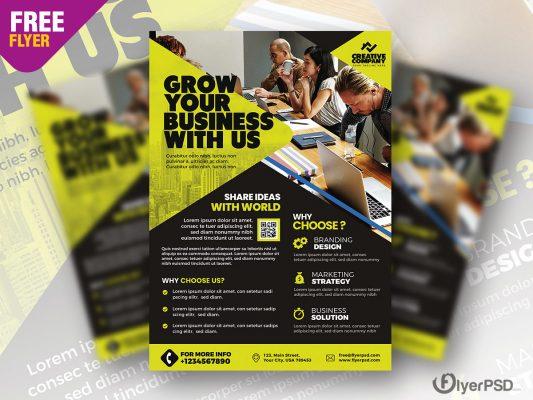 Corporate Agency Flyer Design PSD