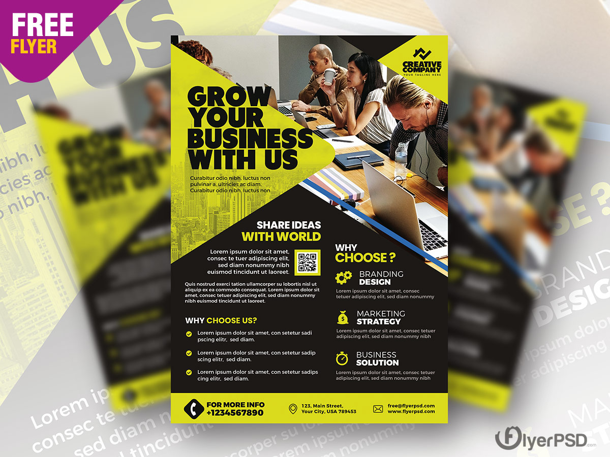 Corporate Agency Flyer Design PSD