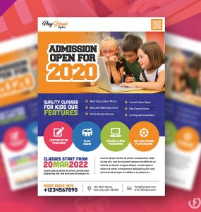 School Education Flyer PSD Template