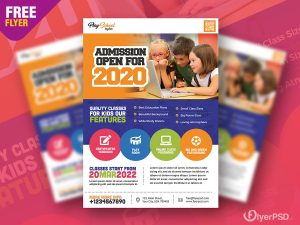 School Education Flyer PSD Template