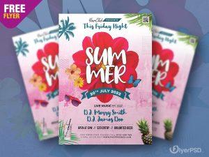 Summer Special Event Flyer PSD