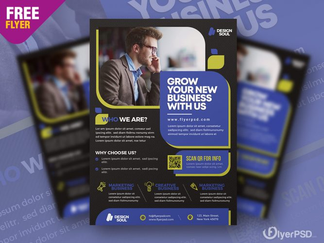 Corporate Template Flyer Design PSD