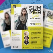 Fashion Sale Promotion Flyer PSD