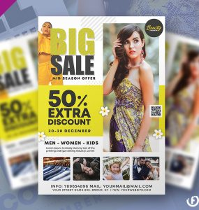 Minimalist Big Sale Flyer PSD