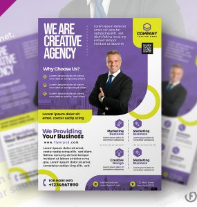 Modern Business Promotion Flyer PSD
