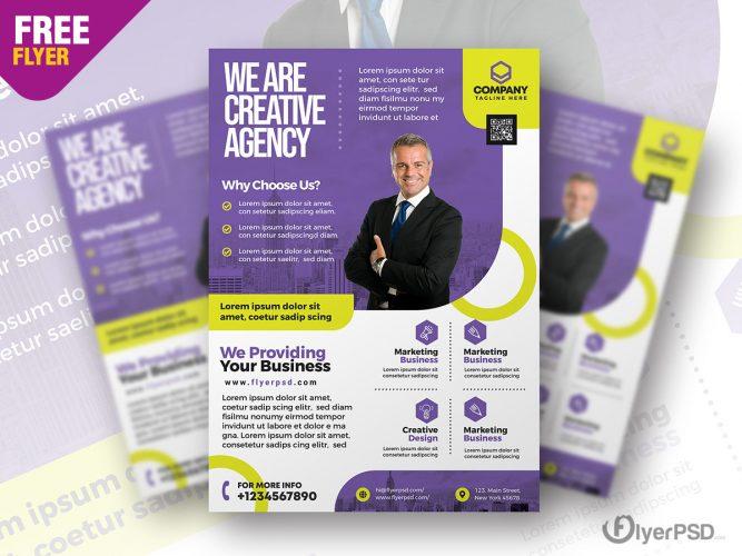 Modern Business Promotion Flyer PSD