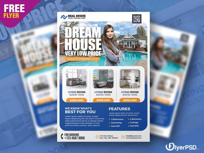 Real Estate Business Flyer PSD Template