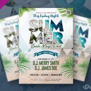 Summer Beach Music Event Flyer PSD