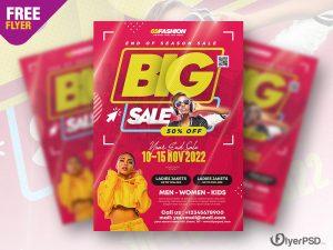 End Season Sale Flyer Design PSD