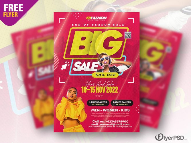 End Season Sale Flyer Design PSD