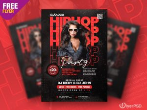 Hip Hop Music Party Flyer PSD Template
