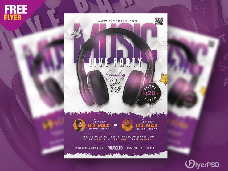 Live Music Event Flyer PSD