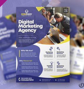 Marketing Agency Flyer PSD Template