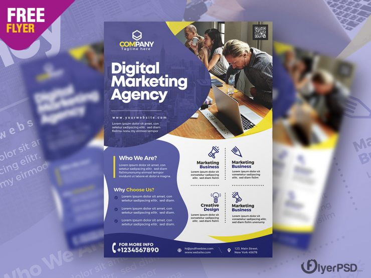 Marketing Agency Flyer PSD Template