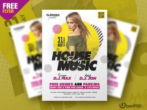 Night Club Party Flyer PSD Template