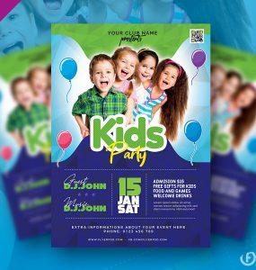 Amazing Kids Party Flyer PSD