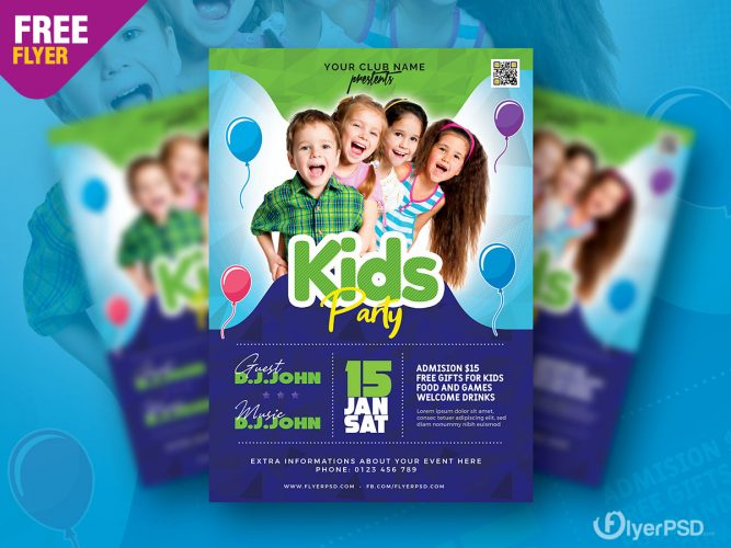 Amazing Kids Party Flyer PSD