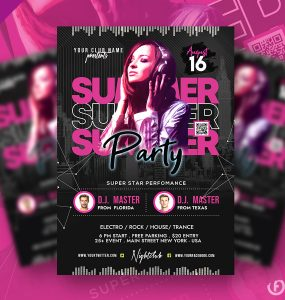 Awesome Summer Club Party Flyer PSD