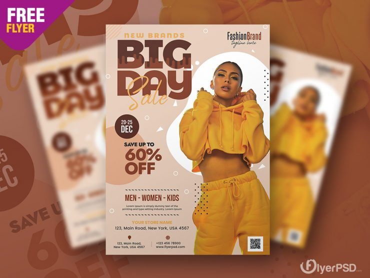 Big Day Sale Flyer PSD Template