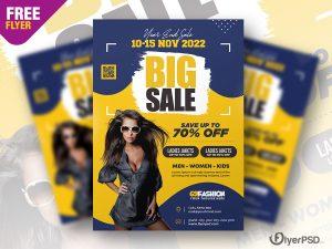 Big Sale Promotion Flyer PSD Template
