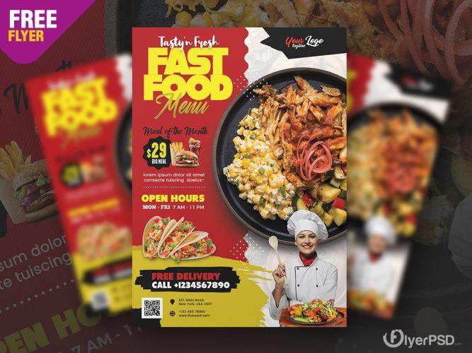 Restaurant Promotion Flyer Design PSD