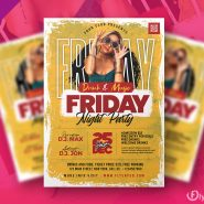 Ladies Friday Party Flyer PSD Template
